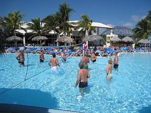 volley en piscina