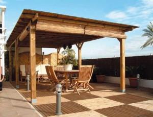 Utilizando madera en la construcci n de estructuras de for Caseta metalica bricomart