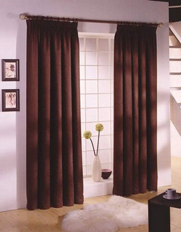 cortinas marron