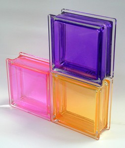 Ladrillos de vidrio de colores