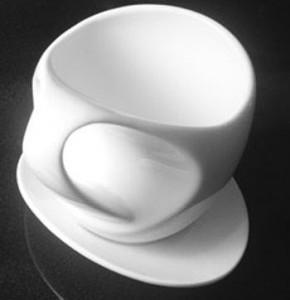 Taza de café ergonómica