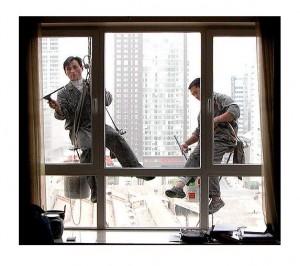 Limpieza de ventanas en alturas