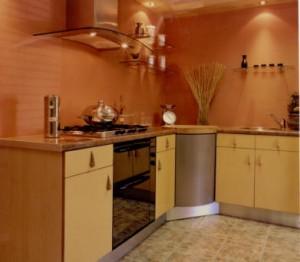 Protecci n para la pared de la cocina con acero inoxidable - Losas para cocina ...