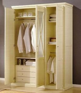La organización dentro del armario