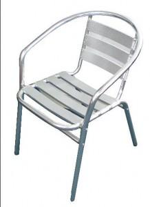 Sillas de aluminio para el patio for Mesas y sillas para patios