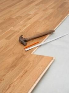 La intalación de pisos de madera