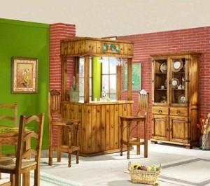 Muebles r sticos de madera for Modelos de bares de madera