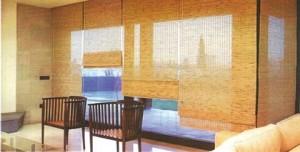 Las persianas bambú