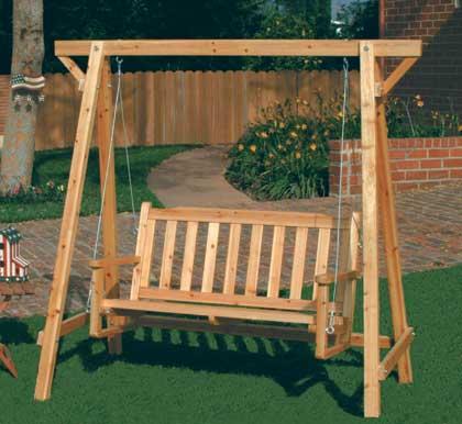 Evite la luz solar sobre los muebles de madera - Columpios de terraza ...
