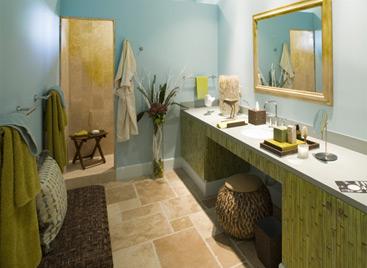 Creando un baño tropical con poco dinero  Arquitectura y ...