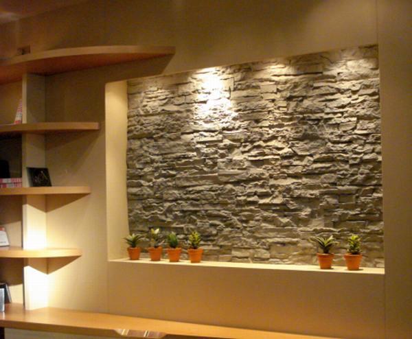 decoracion de interiores con paredes rusticas : decoracion de interiores con paredes rusticas:Las piedras pequeñas pueden utilizarse como centros de mesa o para